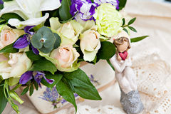 White and lilac bouquet Stock Image