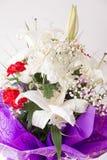 White lily bouquet Stock Photos