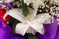 White lily bouquet Royalty Free Stock Photos