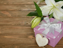 White lily and box Stock Image