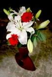 white lily bukiet. Zdjęcia Stock