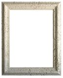 White limestone coral picture frame vertical. Isolated photo imabe of a white limestone coral picture frame in a vertical format Royalty Free Stock Photos