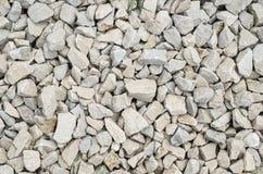 White limestone gravel closeup Stock Photos