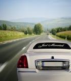 White limo Royalty Free Stock Image