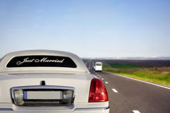 White limo Royalty Free Stock Photo
