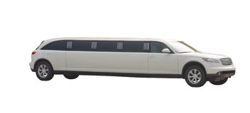 White limo Royalty Free Stock Images