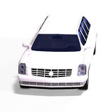 White limo Royalty Free Stock Photo