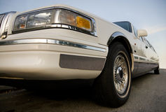 White limousine Stock Photography