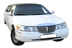 White Limousine Royalty Free Stock Photo