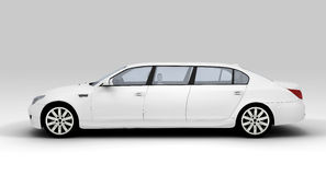 White limousine Royalty Free Stock Photography