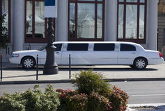 White Limousine Royalty Free Stock Photos