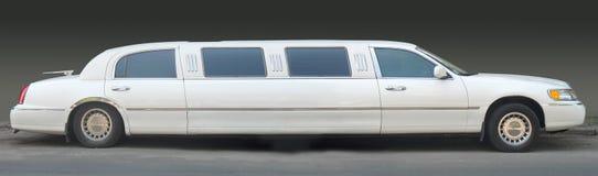 White limousine stock image