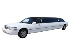 White limousine royalty free stock image