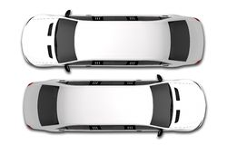 White Limousine Top View Royalty Free Stock Photos