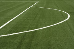 White line. A white line on an green sports field Stock Images