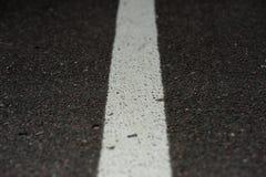 White line on asphalt Stock Photo