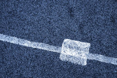 White line and asphalt road as simple urban background pattern Royalty Free Stock Photo