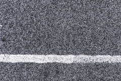 White line and asphalt road as simple urban background pattern Royalty Free Stock Photos