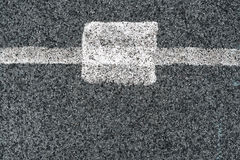 White line and asphalt road as simple urban background pattern Stock Photography