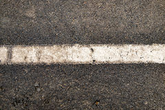 White line on black road textured Royalty Free Stock Images