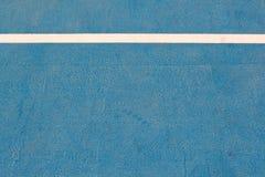 White line on blue floor Stock Photos