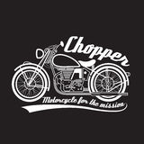 White line chopper motorcycle vector symbol design Royalty Free Stock Image