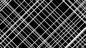 White line crossing pattern loop. White lines crossing over black background loop royalty free illustration
