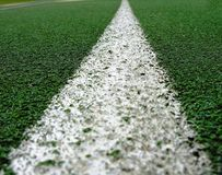 White line on green. Royalty Free Stock Photography