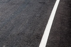 White line on new asphalt detai Stock Photography