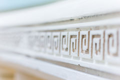 White line with ornavent. Abstract architecture interior fragment. Pattern Royalty Free Stock Photography