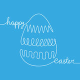 White line reading happy easter shaping egg Stock Image