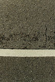 White line on the road. Royalty Free Stock Photos