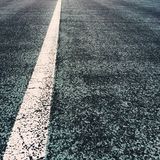 White Line on a Road Stock Photo