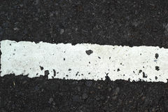 White line on the road texture Royalty Free Stock Image