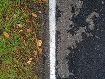 White line separates civilisation and natural out of each other. royalty free stock photography