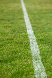 White line on a soccer field Stock Photos