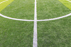 White line on the soccer field Royalty Free Stock Photography