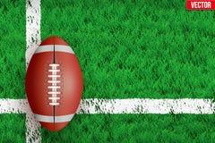 White line on Sport grass field Stock Photo
