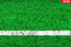 White line on Sport grass field Royalty Free Stock Images