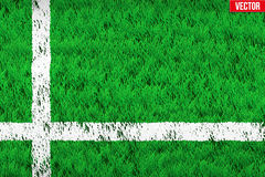 White line on Sport grass field Royalty Free Stock Photos