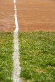 A white line on a sports field Stock Photography