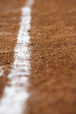A white line on a sports field Stock Images