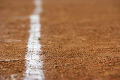 A white line on a sports field Royalty Free Stock Images