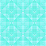 White Line Squares Seamless Pattern on blue Royalty Free Stock Images