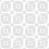 White linear leaves and rounded rectangle groups seamless Stock Photography