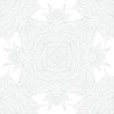 White linear texture in vintage style. With ornament imitating frost pattern on windows for Christmas and holiday decor or wedding invitation. Seamless vector Stock Photography