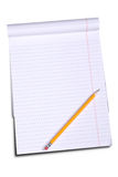 White lined legal notepad Stock Photo