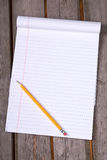 White lined legal notepad stock photography
