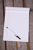 White lined legal notepad stock photos