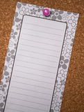 White lined note pad Royalty Free Stock Image